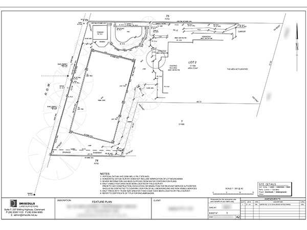 Feature Survey Plan Perth
