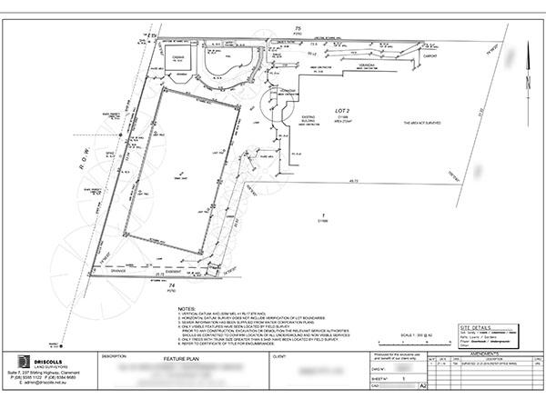 Feature Survey Plan Perth
