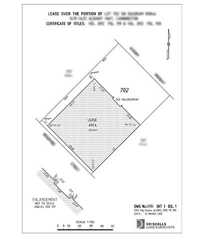 Driscolls Land Surveyors Lease Survey Plan